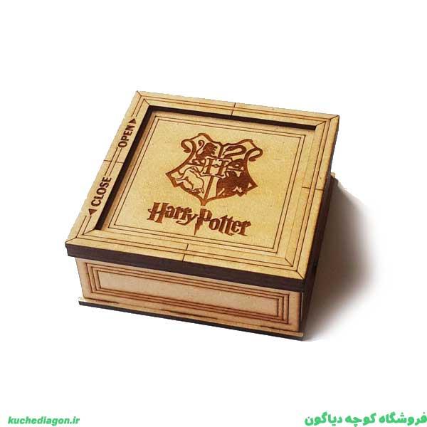 جعبه جواهرات هری پاتر - جعبه جواهرات چوبی هری پاتر